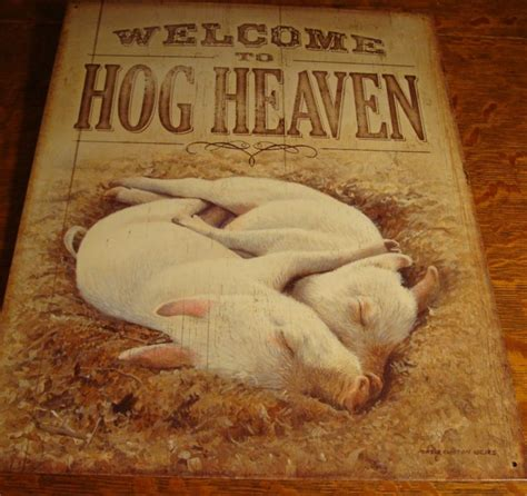 Pig Home Decor by Hog Heaven Country Primitive Pig Piglets Barn Ranch Farm