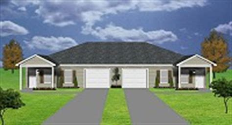 duplex house plans with garage in the middle duplex plans by plansource inc
