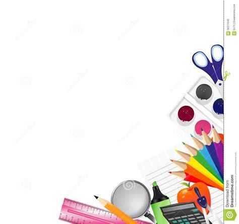 background design school background with school supplies stock illustration