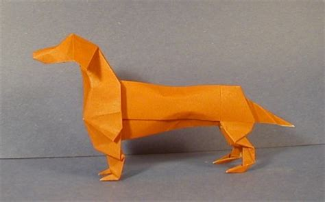 Origami Weiner - dachshund origami sculptures the unofficial
