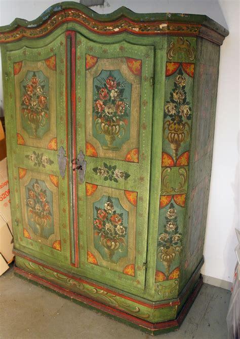 bauernschrank bemalt handpainted farmhouse wardrobe from germany 1780