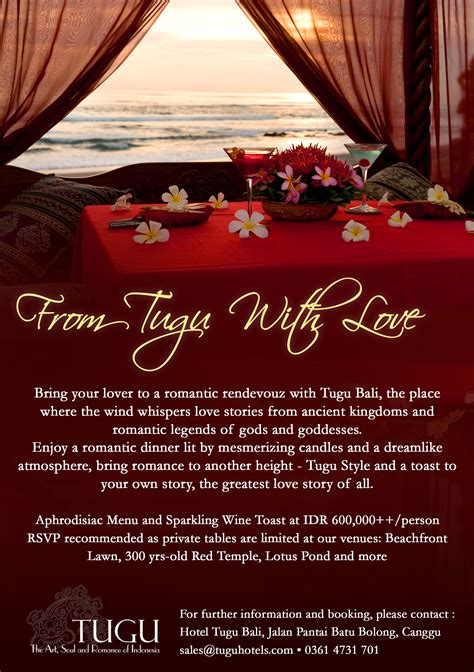 valentines dinner and hotel st s day at hotel tugu bali what s on