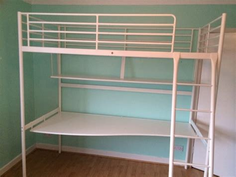 Ikea White Tromso Bunk Bed With Shelf Desk For Sale In Bunk Beds For Sale Ikea