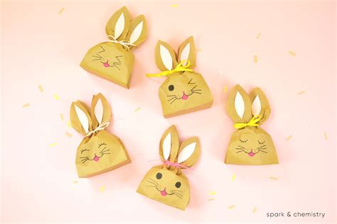 easter paper bag pattern how to make easter bunny treat bags