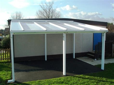 Lean To Patio Cover by 9m Powder Coated Aluminium Free Standing Canopy Lean To