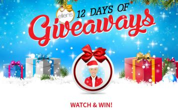 Ellen 12 Days Of Giveaways 2016 Gift List - winzily sweepstakes 2016 how to lists tv commercials