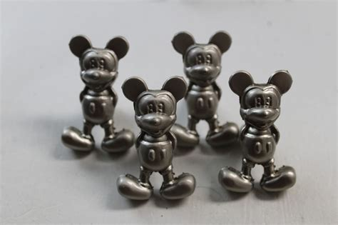 4 metal cabinet mickey mouse drawer pulls knobs furniture