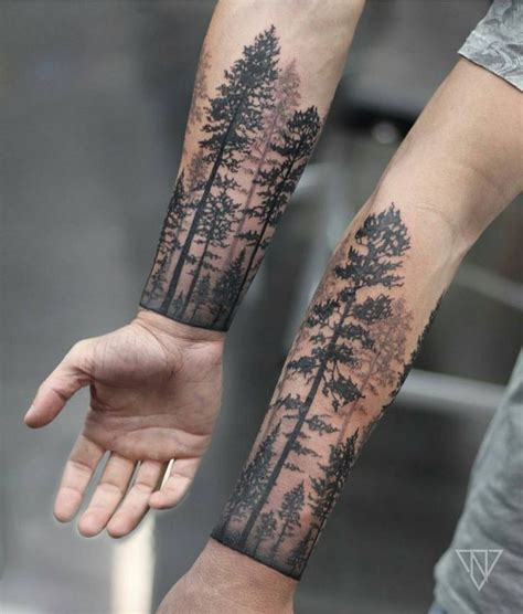 couples tree tattoos 2017 trend tree forrest cuff by niko vaa