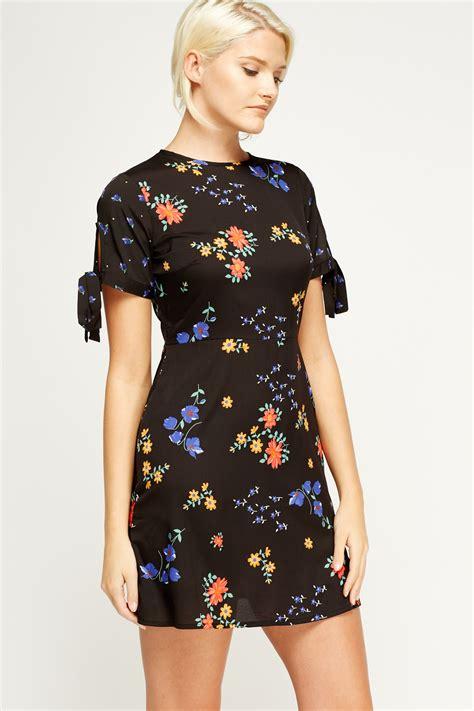 30263 Sleeve Floral Dress floral tie sleeve shift dress just 163 5