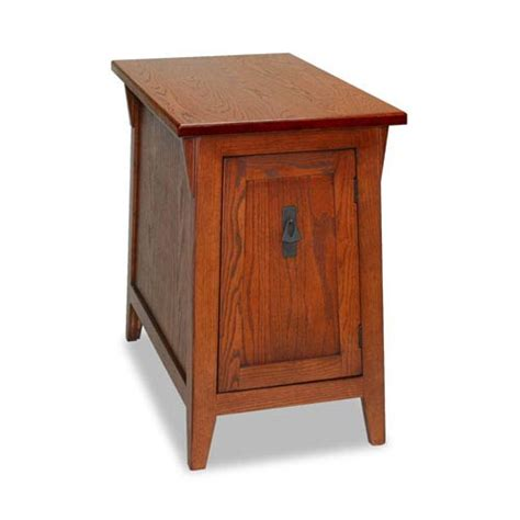 mission accent table leick furniture russet mission cabinet end table on sale