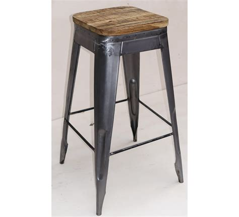 Tabouret De Bar Fer Forgé Et Bois by Tabouret De Bar Pin Massif Fer 4262