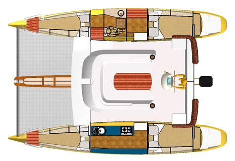 octopus yacht layout catamaran rudder plans bank boat