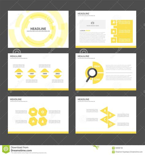 design elements in advertising modern corporate graphic template with black elements on