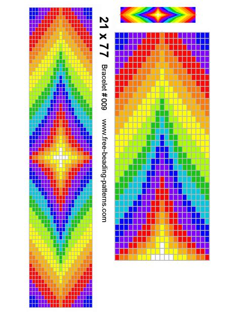 american beading pattern loom rainbow colors