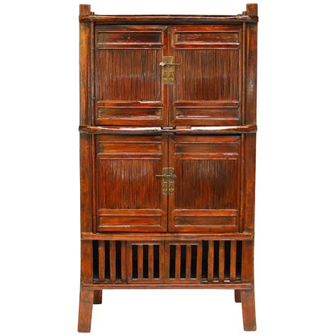 bamboo cabinet chinese bamboo kitchen cabinet for sale at 1stdibs