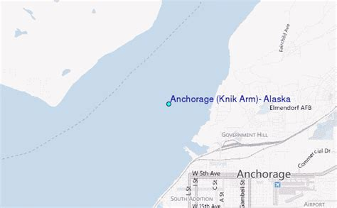 Anchorage Tide Table by Anchorage Knik Arm Alaska Tide Station Location Guide