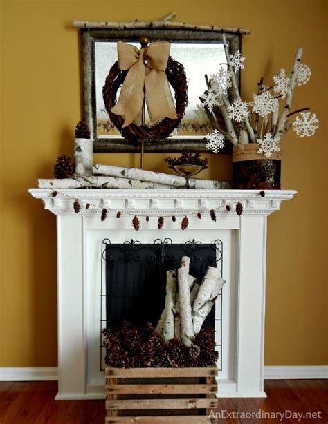 mantel decor my simple winter mantel lighted branches epsom salt and urn decorating the mantel for winter with book page snowflakes