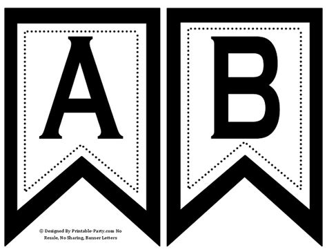 alphabet letter templates for banners small swallowtail printable banner letters a z numbers 0