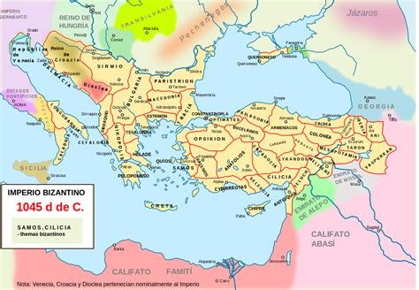 byzantine empire map empire timeline