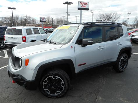 certified pre owned jeeps certified pre owned 2015 jeep renegade trailhawk sport