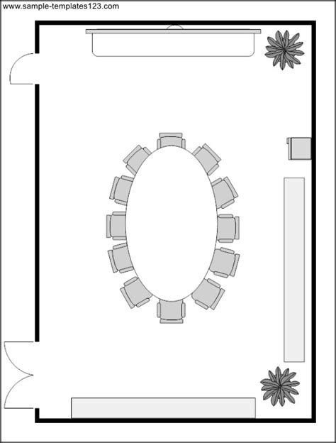 room layout template conference room layout template sle templates