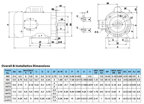 3 phase induction motor dimensions dong ye nema single phase induction motor