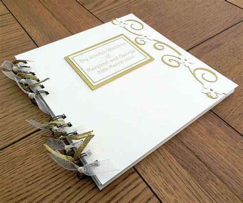 50th Anniversary Guest Book, Golden Wedding Photo Memory
