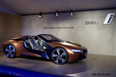 futuristic cars bmw 2017 bmw i8 spyder teased via bmw i vision future