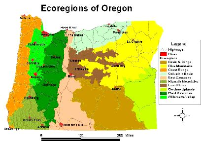 map of oregon regions npso landscaping