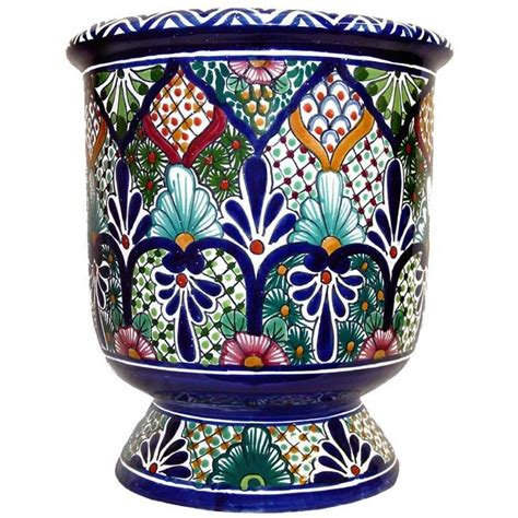 Mexican Planters Large by Talavera Planters Collection Talavera Planter Tp030
