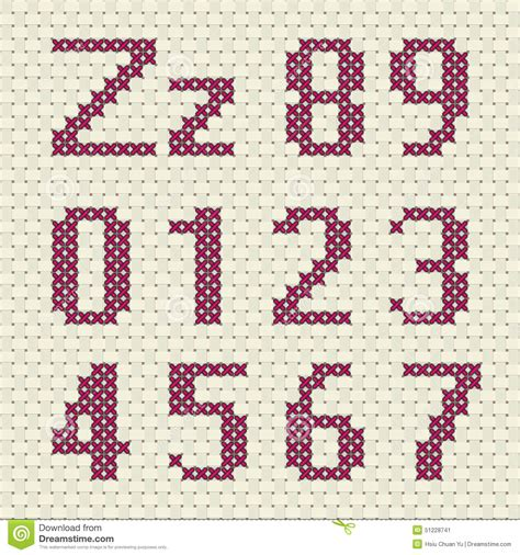 html pattern letters and numbers cross stitch alphabet and number stock vector image