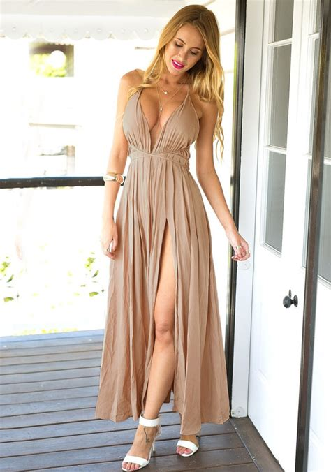 cameo color cameo color strappy plunge dress