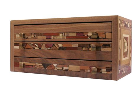 Wood Organizer With Drawers by Three Drawer Mosaic Jewelry Box Decorative Jewelry Organizer