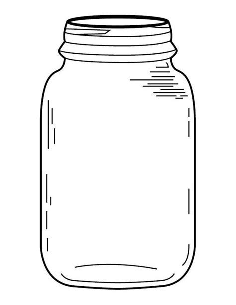 how to color jars jar coloring page