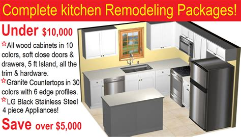Complete Kitchen Cabinet Packages Kitchen Remodeling Packages 10000 In Arizona