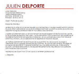 Lettre De Motivation De Soudeur Exemple Lettre De Motivation Soudeur Livecareer