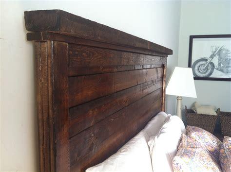 rustic bed headboards rustic farmhouse headboard by henryandwales on etsy