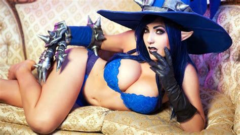 wallpaper girl cosplay jessica nigri witch cosplay ps4wallpapers com
