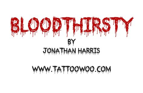 bloodthirsty font 1001 free fonts