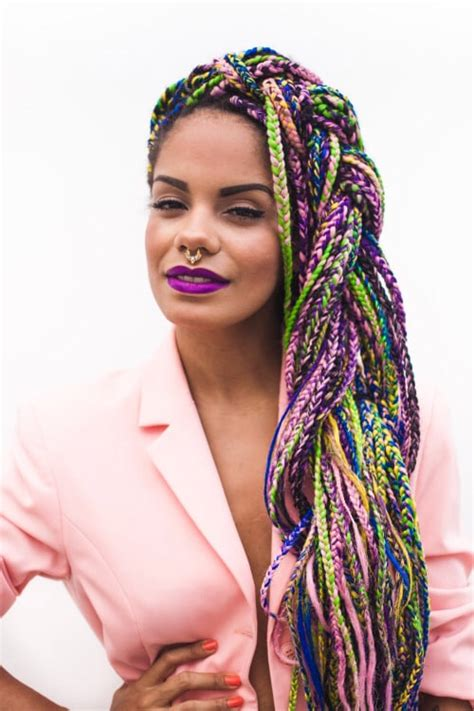 colorful box braids colorful box braids 6 hairstylec