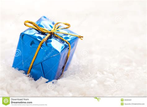 blue christmas gift stock image image 22226401