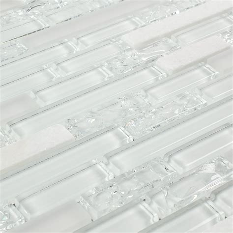 white crackle glass mosaic tile images