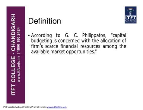 Mba Project On Capital Budgeting Kesoram Pdf by Itft Capital Budgeting