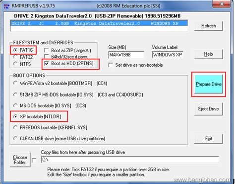 cara membuat bootable usb di windows xp cara membuat bootable windows xp menggunakan winsetupfromusb