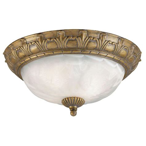 Gold Flush Mount Ceiling Light Westinghouse 2 Light Ceiling Fixture Cozumel Gold Interior Flush Mount With Marbleized Alabaster