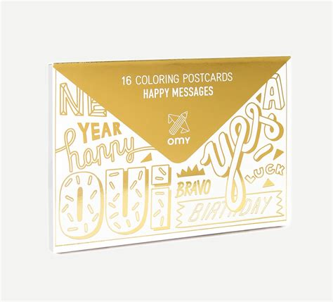 Coloring Postcards Happy Messages