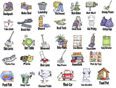 printable chore images 17 best images about kids chart to do list on pinterest