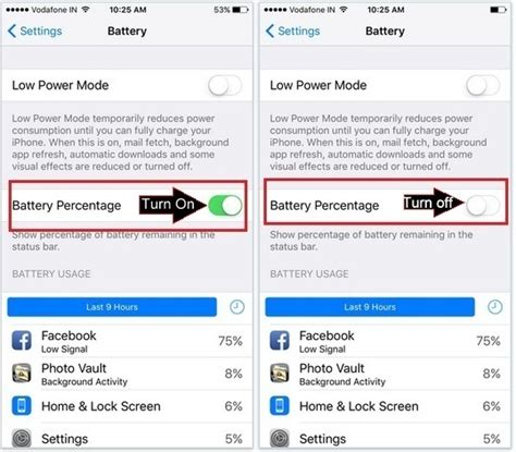 how to turn on percentage on iphone enable battery percentage on iphone ios 9 ios 10 ios 11