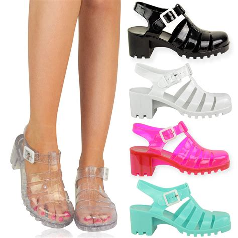 jelly shoes womens summer wedges retro jelly sandals