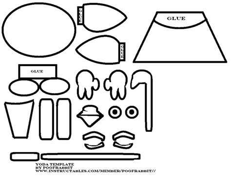 yoda ears template yoda papercraft easy 2 d templates cliparts co